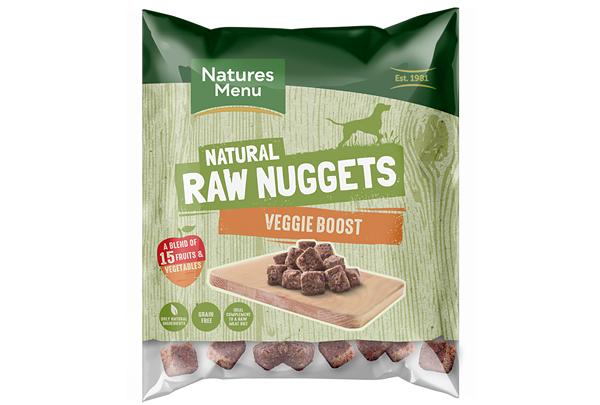 Natures Menu выпустила новую линейку сырых наггетсов Veggie Boost