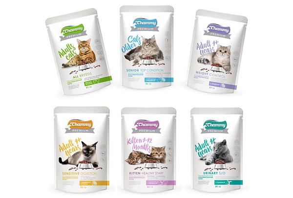 Начался выпуск новой линейки кормов для кошек Chammy PREMIUM