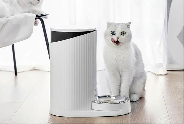 Производитель смартфонов Xiaomi разработал дистанционно управляемую кормушку для кошек