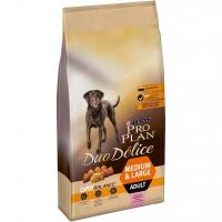 Сухой корм Purina Pro Plan DUO DELICE для взрослых собак крупных пород, лосось с рисом, пакет, 10 кг_0