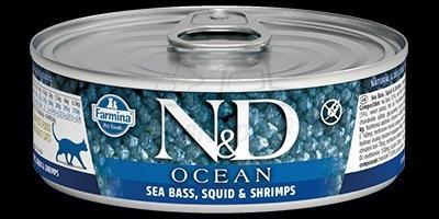 SEA BASS, SQUID, SHRIMP WET FOOD