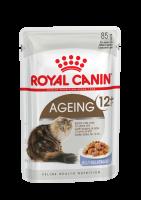 Ageing 12+ (Эйджинг +12) Мелкие кусочки в желе для взрослых кошек старше 12 лет_1