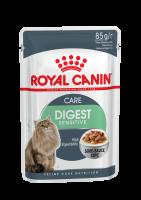 Digest Sensitive (Дайджест сенситив) Мелкие кусочки в соусе для улучшения пищеварения у взрослых домашних кошек в возрасте старше 1 года_1