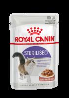 Sterilised (Стерилайзд) Мелкие кусочки в желе для взрослых стерилизованных кошек_1