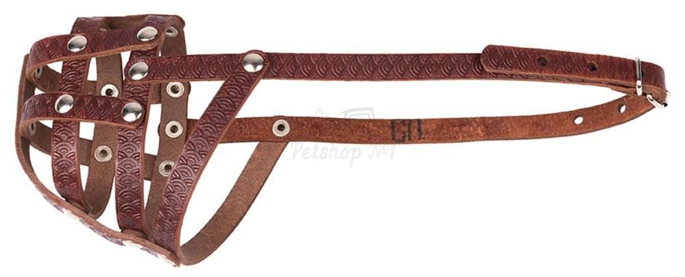 Универсальный кожаный намордник-сетка с открытой мочкой носа