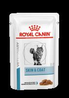 Vcn Skin and Coat Formula (Вкн Скин энд Коат Формула пауч) питание для кастрированных/стерилизованных котов и кошек с повышенной чувствительностью кожи и шерсти_1
