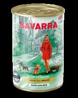 Консервированный влажный корм САВАРРА (SAVARRA Adult Dog) для собак Утка и рис 395 гр._1