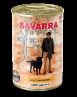 Консервированный влажный корм САВАРРА (SAVARRA Adult Dog) для собак Индейка и рис 395 гр._1