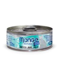 Консервы Монж для кошек морепродукты с курицей 80гр Monge Cat Natural_1