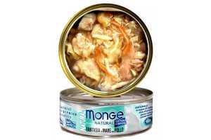 Консервы Монж для кошек морепродукты с курицей 80гр Monge Cat Natural_0