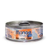Консервы Монж для кошек тихоокеанский тунец с лососем 80гр Monge Cat Natural_1