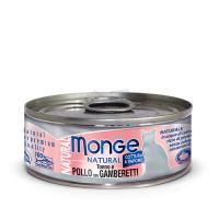 Консервы Монж для кошек тунец с курицей и креветками 80гр Monge Cat Natural_1