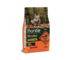 Беззерновой корм Монж из мяса утки с картофелем для взрослых собак всех пород Monge Dog BWild GRAIN FREE_0