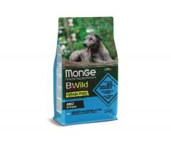 Беззерновой корм Монж из анчоуса с картофелем и горохом для взрослых собак всех пород Monge Dog BWild GRAIN FREE_0