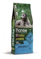 Беззерновой корм Монж из анчоуса с картофелем и горохом для взрослых собак всех пород Monge Dog BWild GRAIN FREE_1