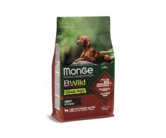 Беззерновой корм Монж из мяса ягненка с картофелем и горохом для взрослых собак всех пород Monge Dog BWild GRAIN FREE_0