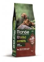 Беззерновой корм Монж из мяса ягненка с картофелем и горохом для взрослых собак всех пород Monge Dog BWild GRAIN FREE_1