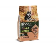 Беззерновой корм Монж из лосося и гороха для собак всех пород Monge Dog BWild GRAIN FREE_0