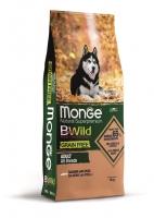 Беззерновой корм Монж из лосося и гороха для собак всех пород Monge Dog BWild GRAIN FREE_1