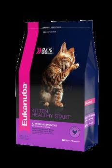 Профессиональные рационы Eukanuba для котят от 1 до 12 месяцев содержат высокий уровень высококачественных белков животного происхождения