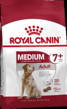 Специальная формула способствует поддержанию здоровья собак средних размеров, у которых появились первые признаки старения
