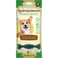 Зубочистки Мятные для собак СРЕДНИХ пород 4 шт 70 гр_0