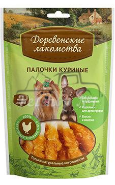 Деревенские лакомства для мини-пород Палочки куриные 55 гр_1