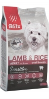 BLITZ ADULT SMALL Breeds Lamb and Rice сухой корм для собак мелких пород с ягненком и рисом_1