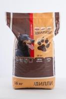 Сухой корм для активных собак Дилли 16 кг_0