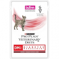 Влажный корм Purina Pro Plan Veterinary Diets DM для кошек с диабетом, говядина 85 гр_2